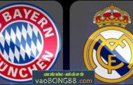 Tỷ lệ cược Bayern Munich - Real Madrid (01:45 – 26/04/2018) Cúp C1 theo bong88
