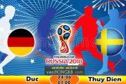 Tỷ lệ cá cược Đức vs Thụy Điển (24-06) Nhận định World Cup 2018