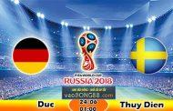 Soi kèo Đức vs Thụy Điển (1h ngày 24-06-2018)