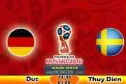 Trực tiếp bóng đá Đức vs Thụy Điển (01:00 – 24-06)