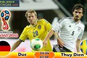 Kèo hiệp 1 – Kèo tài xỉu Đức vs Thụy Điển (24-06)