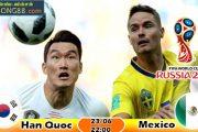 Soi kèo Hàn Quốc vs Mexico (22h ngày 23-06-2018)