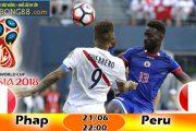 Kèo hiệp 1 – Kèo tài xỉu Pháp vs Peru (21-06)