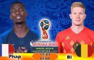 Soi kèo Pháp vs Bỉ (1h ngày 11-07-2018)