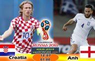 Tỷ lệ cá cược Anh vs Croatia (12-07) Nhận định World Cup
