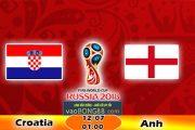Soi kèo Anh vs Croatia (1h ngày 12-07-2018)